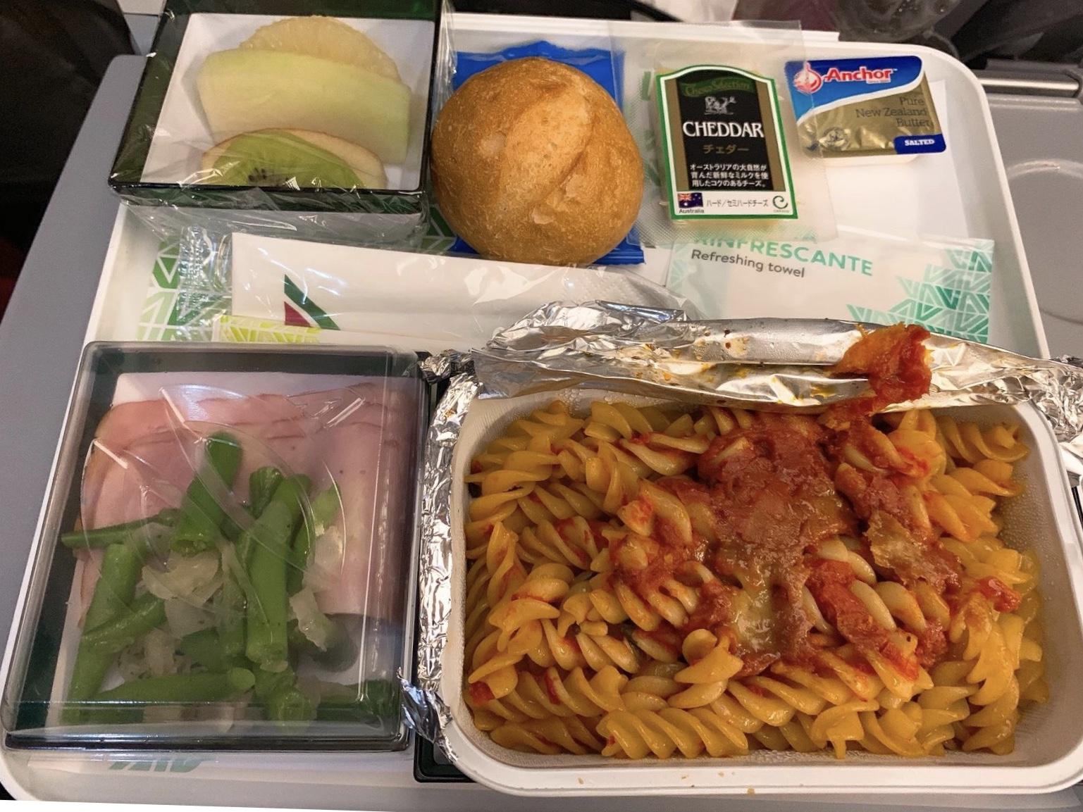 アリタリア航空の食事